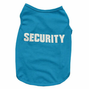 """""""SECURITY""""Printed Small Dogs Cat Pet Puppy Clothes Summer Soft Vest Top T Shirts"""