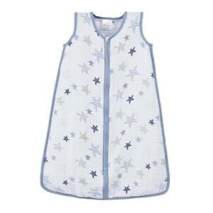 Aden+Anais 100% Cotton Muslin Rock Star Classic Baby Infant Swaddle Sleeping Bag