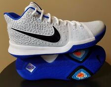 Mens Nike Kyrie 3 Size 10 White Black Blue Basketball Shoes Nike Zoom Air $120
