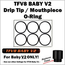 6- TFV8 BABY V2 Drip Tip Mouthpiece ORings smok Seal Gasket Species Mag Stick V9