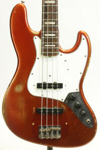 Used Fender Jazz Bass 1966-67 Original Candy Apple Red Mh Bass *Mbn22