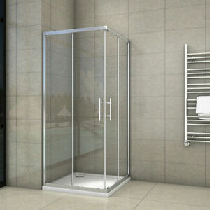 Corner Entry Shower Enclosure and Shower Tray Walk in Cubicle Sliding Glass Door