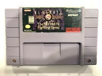 **Ultimate Mortal Kombat 3 SUPER NINTENDO SNES GAME Tested + Working & Authentic