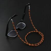 Women Men Wooden Bead Reading Eye Glasses Sunglasses Holder Chain Strap Cord