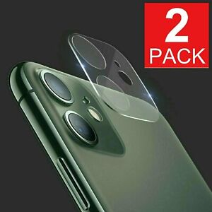 2-Pack For iPhone 11 Pro Max Full Tempered Glass Camera Lens Screen Protector