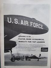 1/1960 PUB AVION CESSNA U-3A LIGHT CARGO CARRIER US AIR FORCE USAF ORIGINAL AD