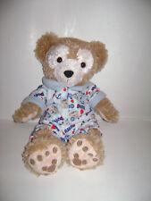"HIDDEN MICKEY Duffy the Bear Plush 17"" w Mickey Pajamas PJs Disney Parks Stuffed"