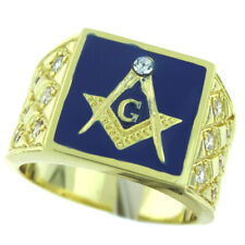 Mens Red s10 Masonic Mason 18kt Gold Plated Ring New