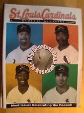 St. Louis Cardinals Magazine No 8 1998 98 Team Photo Kent Bottenfield Baseball