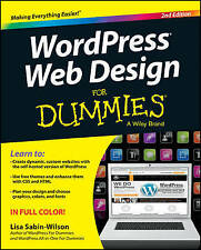 WordPress Web Design For Dummies by Lisa Sabin-Wilson (Paperback, 2013)