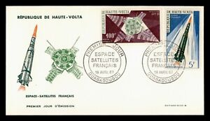 DR WHO 1967 UPPER VOLTA FDC FRENCH ACHIEVEMENTS IN SPACE  C238982