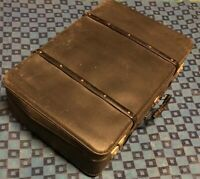 ancienne valise rétro vintage Rigide Noir H 24 L 76 l 52 cm #87