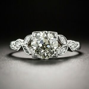 1.13Ct White Round Cut Diamond Antique Engagement Ring Solid 925 Sterling Silver