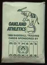 1989 Mother's Cookies Oakland A's 28 card set