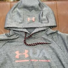 UNDER ARMOUR GREY COLD GEAR HOODIE MENS SIZE LG LOOSE 100% AUTHENTIC