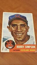 1953 TOPPS BASEBALL CARD - HARRY SIMPSON - CLEVELAND INDIANS #150