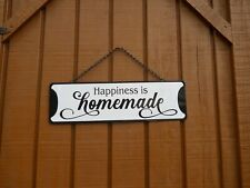 """Décor Wall Plaque Sign ~ """"Happiness is homemade� ~ Tin"""