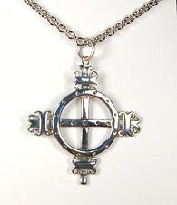 Cross 925 Sterling Silver Viking Norse Celtic Solar Cross Scandinavia Pendant