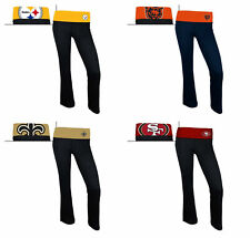 NFL Women's Sublime Spandex Knit Sleep Pants Fold-over Waistband Licensed NEW