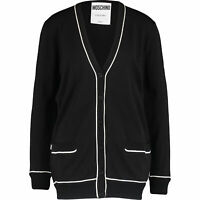MOSCHINO COUTURE *100% Virgin Wool*  Longline Cardigan Sz: uk10, rrp:£505,BNWT