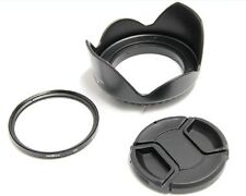 58mm Lens Hood Cap UV Filter Canon for EOS 550D 600D 1000D Kiss X2 X3 X4 X5_SX