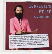 (FL455) D/R/U/G/S ft Fe, Overcome - DJ CD
