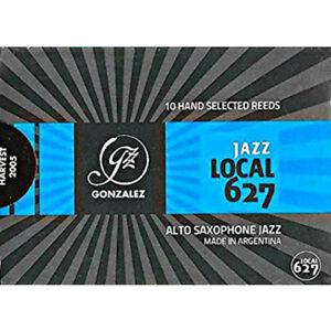 Gonzalez Eb Alto Saxophone 'Local 627' Jazz Reeds Strength 1.5, Box of 10