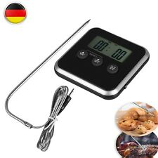 Digital Backofenthermometer Fleischthermometer Küchen Thermometer 1m Kabel