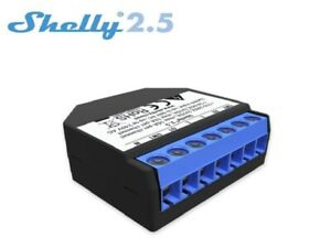 Shelly 2.5 WiFi-gesteuerter Doppelrelais-Schalter und Rollladen-Steuerung mit ..