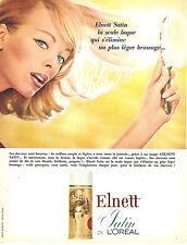 PUBLICITE ADVERTISING 124  1965  L'OREAL   laque  ELNETT SATIN