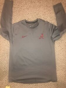 New Nike Dri Fit Alabama Crimson Tide Quilted Sweatshirt Size Mens Large Gray