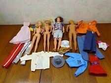 Vintage Barbie/Ken 4 Dolls1966/1968 Mattel Taiwan Malaysia Hong Kong Accessories
