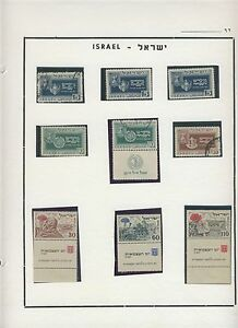 ISRAEL 1949 FESTIVALS & 1952 FOURTH INDEPENDENCE DAY STAMPS