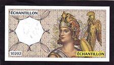 France ,test note,échantillon 10202  UNC