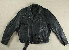 Trapunta Vintage 50s REPRO qualità pesante in Pelle Nera Giacca Da Motociclista Biker Rocker USA 42