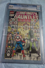 INFINITY GAUNTLET 2 CGC GRADED 8.5 WHITE PAGES THANOS AVENGERS
