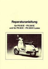 Vespa reparación instrucciones px 80/125/150/200/Lusso-manual guía