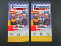 VTG 1995 Atlanta PUROLATOR 500 Nascar 2 Ticket Stubs JEFF GORDON Car Race Winner