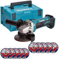 Makita DGA452Z 18V LXT Cordless Angle Grinder With Case 10 x Metal Grinding Disc