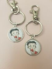 Betty Boop Red Dress Sex Symbol 50s 60s 70s 80s Keyring Bag Charm Gift Tag