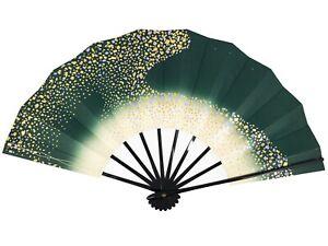 Vintage Japanese Geisha Odori 'Maiogi' FoldingDanceCloud Design Fan: May20-H