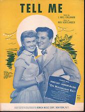 Tell Me Doris Day Gordon MacRae in On Moonlight Bay Sheet Music