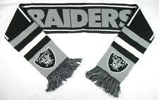 LAS VEGAS RAIDERS NFL FOREVER COLLECTIBLES WINTER KNIT DOUBLE SIDED SCARF NWT!