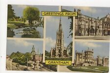 Greetings From Grantham Vintage Postcard 323a