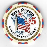 Four Queens $5 July 4th Casino Chip 1995 Las Vegas