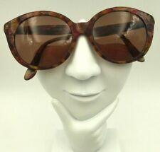 Vintage Adrienne Vittadini AV107 Brown Pink Round Horn-Rimmed Sunglasses Frames