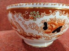 ROYAL ALBERT T. WILD Amber Black Iron Red Peony SUGAR SLOP BOWL1917 FREE UK POST