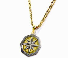Men's Necklace Yellow Gold 18kt 750 Chain Rhombus CM 50 With Pendant Pink Pads