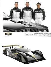 """3 Bentley LE MANS i driver per 2001 STAMPA FOTO + COMUNICATO STAMPA """"brochure"""" correlati"""