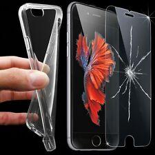 Handyhülle Schutz Hülle Silikon Schale Tasche Transparent + SchutzglasFOLIE